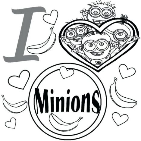 Minions Christmas Coloring Pages 11