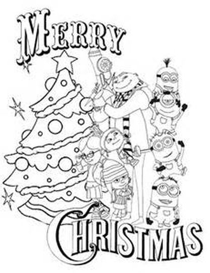 Minions Christmas Coloring Pages 12