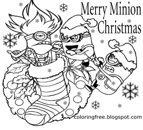 minions christmas coloring pages 3