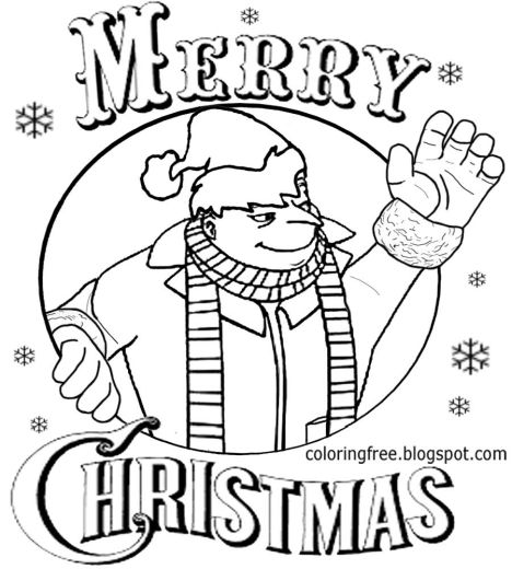 Minions Christmas Coloring Pages 7