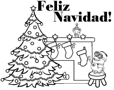 Minions Christmas Coloring Pages 9