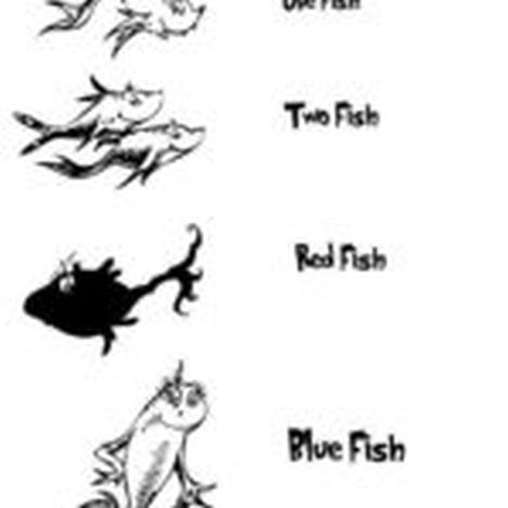 One Fish Two Fish Red Fish Blue Fish Coloring Pages 18