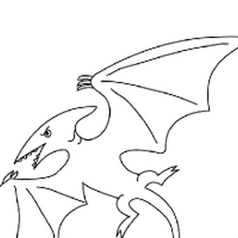 Pterodactyl Colouring Pages 1
