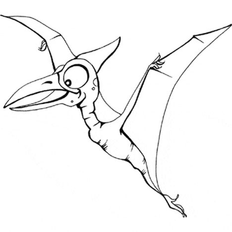 Pterodactyl Colouring Pages 13